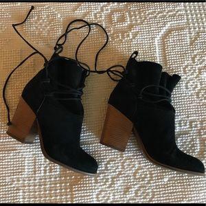 Jessica Simpson tie around ankle booties